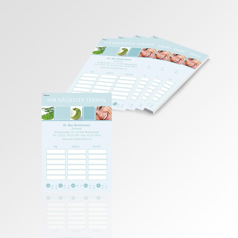 Terminzettel Terminblöcke Terminblätter Motiv Zahnarzt Terminblock Zahnarztpraxis Arzt Arztpraxis Design Block Blöcke Termin Zettel