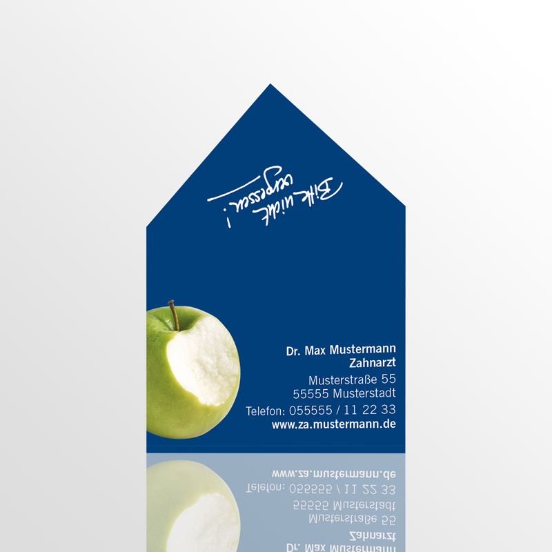 Form-Terminkarten Form-Karten Stanz-Karten Terminkarten Motiv Karten Zahnarzt Terminzettel Zahnarztpraxis Arzt Arztpraxis Terminkärtchen Stanzterminkarten Formterminkarten Formterminkärtchen Stanzterminkärtchen Zahnform Kuverform Apfelform